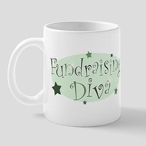 """""""Fundraising Diva"""" [green] Mug"""